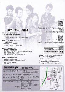和洋楽器混成バンドNEO Japanesque ~ネオジャパネスク~ チラシ裏