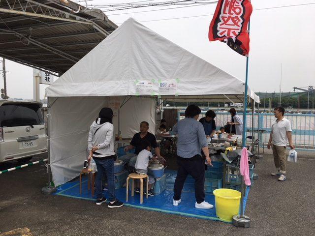 半田 ニイミ産業 超感謝祭で工房陶芸教室