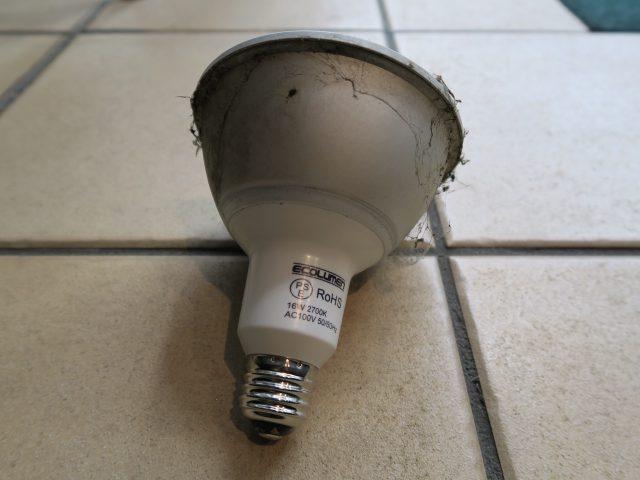 取り外したスポットLED電球2