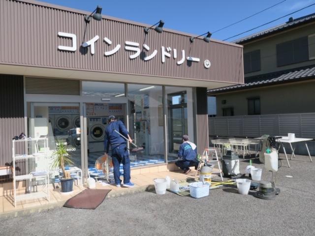 松谷クリーネス 床のワックスがけ&窓拭き2